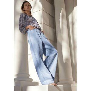 Zara z1975 wide high waist jeans NWT